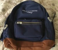 Adventures By Disney Navy Blue Backpack Suede Leather Bottom