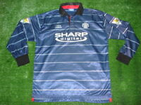 Vtg Umbro 1999 Manchester United Long Sleeve Authentic Jersey SUPER RARE XL