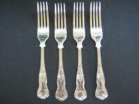 "Set of 4 Kings Silverplate Forks EPNS A1  Sheffield England  7 1/4"""