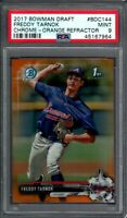 FREDDY TARNOK ROOKIE 2017 Bowman Chrome Orange Refractor /25 PSA 9 MINT BRAVES