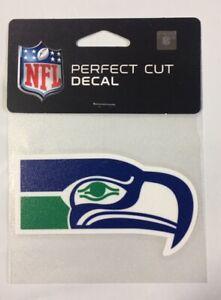 "Seattle Seahawks 4"" x 4"" Retro Logo Truck Car Window Die Cut Decal New Color"