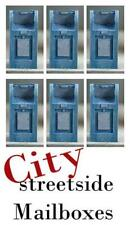 14 N Scale City Mailboxes BULK PACK they come all painted for you too