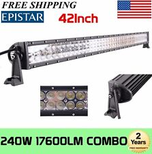 42INCH 240W LED WORK LIGHT BAR SPOT FLOOD COMBO FOR JEEP UTE SUV TRACTOR VS 560W