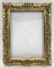 Vintage Italian Florentine Hand Carved Gold Gilt Frame 5 x 7 Opening