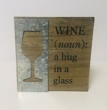 WINE Definition 6X6  Wood Sign Wall Art