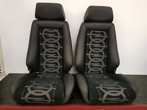 2 Recaro Idealsitz N für Opel Ascona B Manta B Kadett C 400er  Stoff Leder