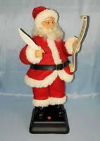 "Musical Animated 18"" Christmas ""Santa Claus Checking His List"" 12 Songs *VIDEO*"