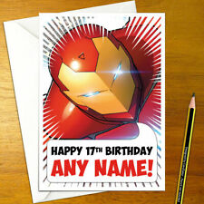 IRON MAN Personalised Birthday Card - A5 the invincible super hero comic comics