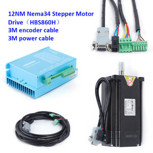 12Nm 8A Nema 34 Schrittmotor Driver Set Closed loop Stepper Motor CNC Kit DHL