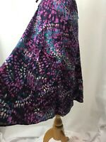 M&S Classic floral Black Purple Skirt UK 14 maxi 27 inches summer