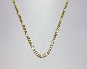 14KT  GOLD EP 15 INCH 2MM FIGARO CHILDRENS DESIGNER COMFORTABLE CHAIN NECKLACE