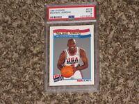 Michael Jordan 1991 NBA Hoops Dream Team USA Olympic Card # 579 RARE PSA 9 MINT
