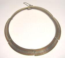 Modernist Tri Color Collar Necklace Lovely Vintage Metales Casados Mexican