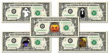 Halloween Collector Pack 5 Dollar Bills - REAL Money Trick Or Treat Cash