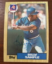 BILLY SAMPLE 1987 TOPPS AUTOGRAPHED SIGNED AUTO BASEBALL CARD 104 BRAVES