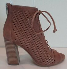 41466a63901 Vince Camuto Size 8 KEVINA Smoke Taupe Leather Lace Up Booties New Womens  Shoes