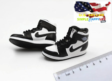 "1/6 men white black sneakers basketball air shoes for 12"" hot toys phicen ❶USA❶"