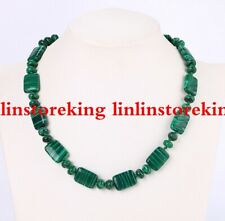 "13x18mm Green MALACHITE GEMSTONE Rectangle Necklace 18 """
