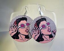 CG5655...LARGE ROUND EARRINGS OF A GIRL - FREE UK P&P