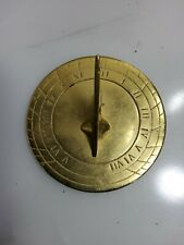 Vintage Solid Brass Sundial Maritime Sun Dial Metal Decor Art Garden Nautical