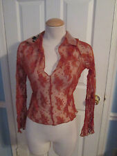bebe lace see truth top m made in usa   #659