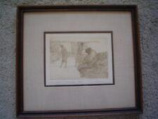 "HAROLD ALTMAN Original Etching ""Seated Man"" - Signed Artist Proof"