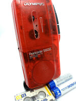 Olympus Pearlcorder S600 MicroCassette Voice Recorder Dictaphone Dictation RED