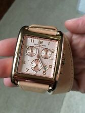 Michael Kors Rose Gold MK2225 Pink Wrap Around Leather Chronograph Watch