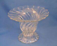 "Fostoria Colony Flared Vase - 6-1/4"" - Swirl - Pattern 2412 - Clear"