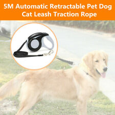 5M Automatic Retractable Pet Dog cat Leash Traction Rope Lead Chain Rope Black