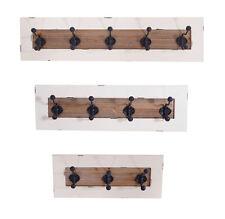 Wandgarderobe Garderobe Shabby Hakenleiste Regal Holz antik Weiß Landhaus