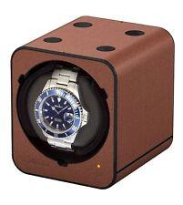 Boxy Fancy Brick Uhrenbeweger, Cognac, PU-Leder, mit Adapter by Beco Technic
