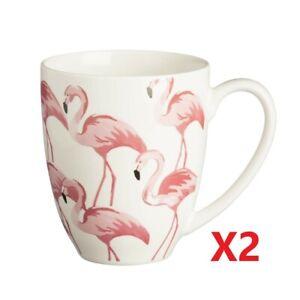 2 X Price & Kensington Fine Porcelain Mug Pink Flamingo  [4051H] EOL