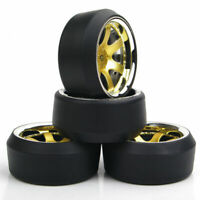 4Pcs 1:10 On-Road Racing Car Drift Tires For HPI HSP 6mm Offset RC