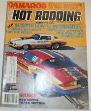 Popular Hot Rodding Magazine Mopar W-2 Heads March 1979 122314R