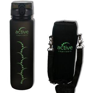 Trinkflasche 1l BPA Frei Sportflasche Wasserflasche Titranflasche Isolierung