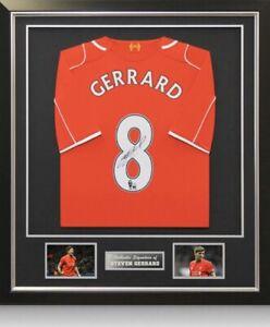 Steven Gerrard Signed Shirt Framed Display Certificate
