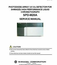 Shimadzu SPD-M20A PHOTODIODE ARRAY UV-Vis DETECTOR  SERVICE MANUAL