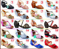Lot Latin Shoes Fashion Girl Kid Child Party Bow Soft Buckle Dance Shoes B