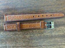Watch - Two-Tone brown-silver buckle 12 mm- Vintage Women's Leather Wrist