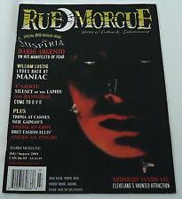 July/August 2001 RUE MORGUE magazine ~ DARIO ARGENTO, Suspiria...