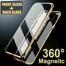 For iPhone X Xs XR Xs Max Magnetic Adsorption Double Side Glass Phone Case Cover