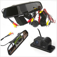 12V 120° Car Radar Reverse HD Camera + TFT LCD Rear View Mirror Digital Monitor
