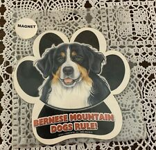 Brand New Bernese Mountain Dog Paw Shaped Car Magnet For Dog Rescue Charity