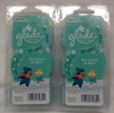 2 Glade Wax Melts Hot Cocoa And Mint Limited Edition Holiday 2014 New