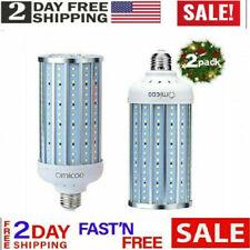 2-Pack Omicoo 50 Watt 500W Equivalent LED Corn Bulb, 5000 Lumen 6500K,Cool LED