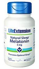 Natural Sleep Melatonin - Life Extension - 5 mg - 60 Vegetarian Capsules