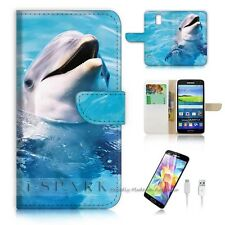 ( For Samsung Galaxy S5 ) Case Cover S8204 Dolphin