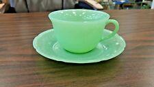 BEAUTIFUL OLD JADEITE ALICE CUP & SAUCER SET - GREAT DESIGN