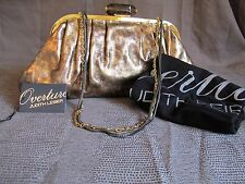 NWT Authentic Judith Leiber Devin Oversized Clutch Gold/Bronze Leopard w/ bag